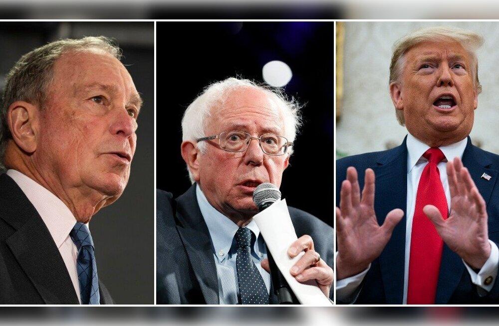 USA presidendiks pürgiv Sanders ründas tema kandadel käivat ärimees Bloombergi
