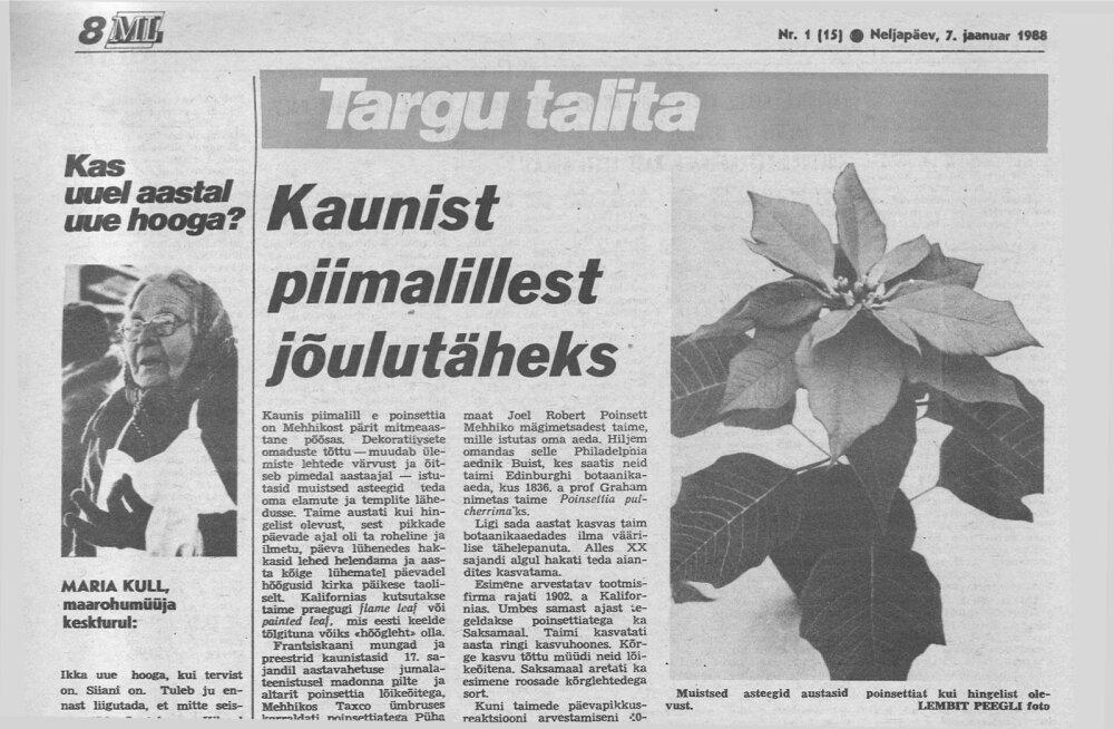 1988. aasta 7. jaanuaril ilmus esimene Targu Talita.