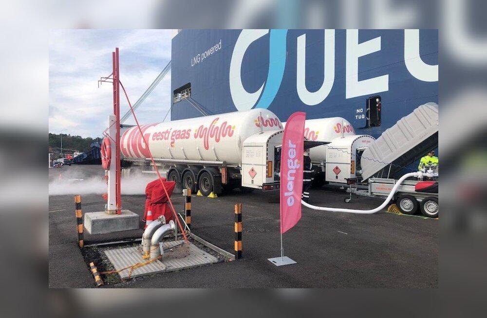 Компания Eesti Gaas впервые выполнила бункеровку LNG в финском порту Ханко