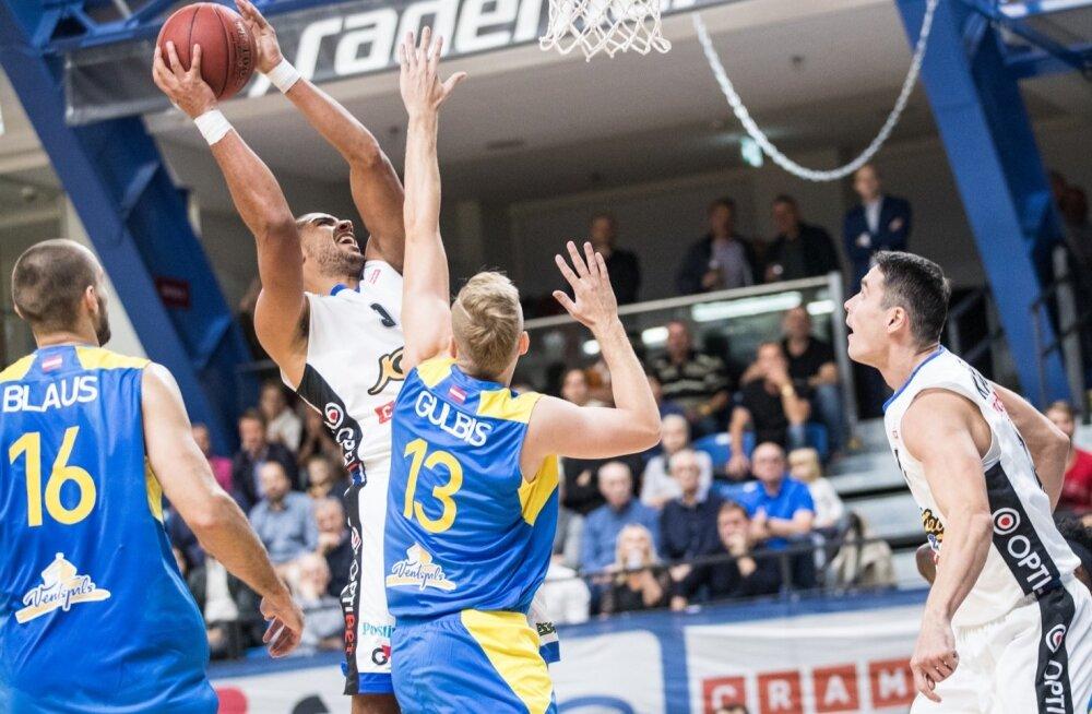Ventspils (sinises) võitis põhihooaja, Kalev/Cramo pidi leppima kolmanda kohaga.