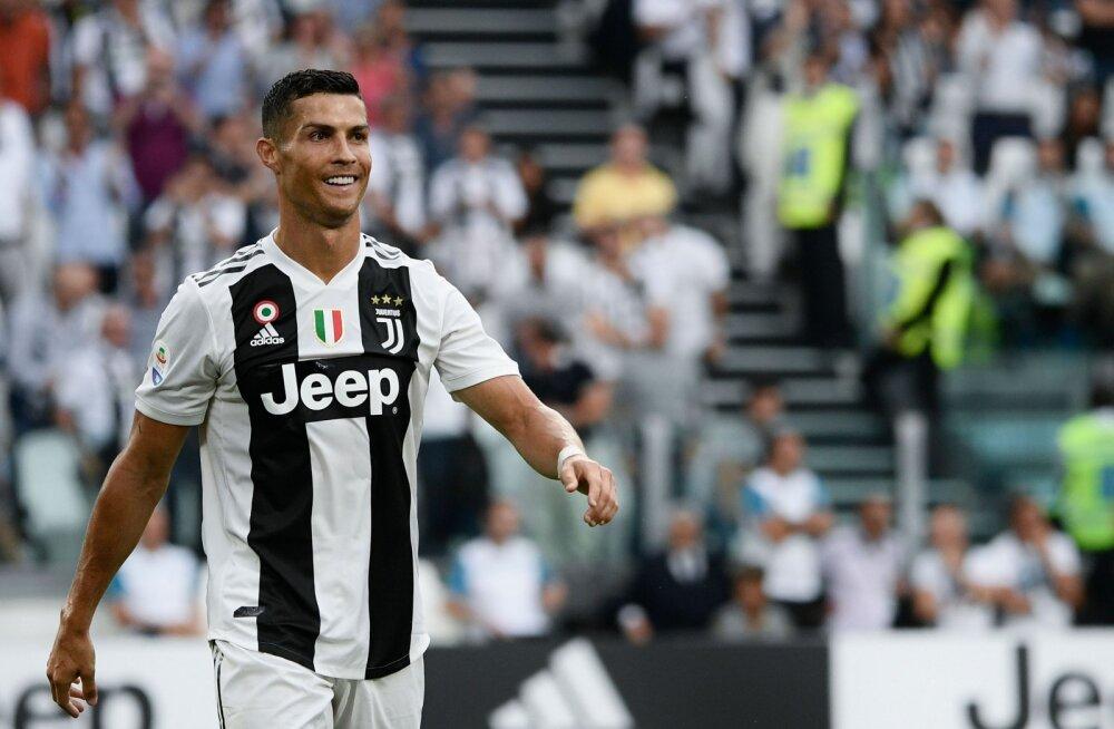 Cristiano Ronaldo pärast Juventuse väravat