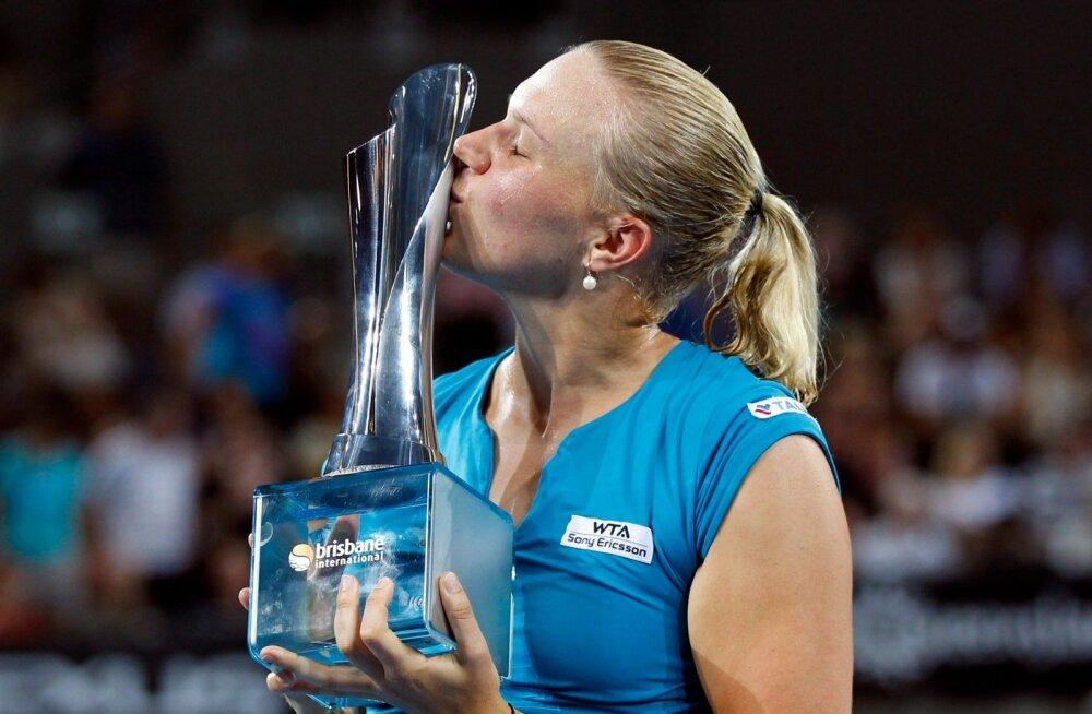 Kaia Kanepi naudib Brisbane'is triumfi.