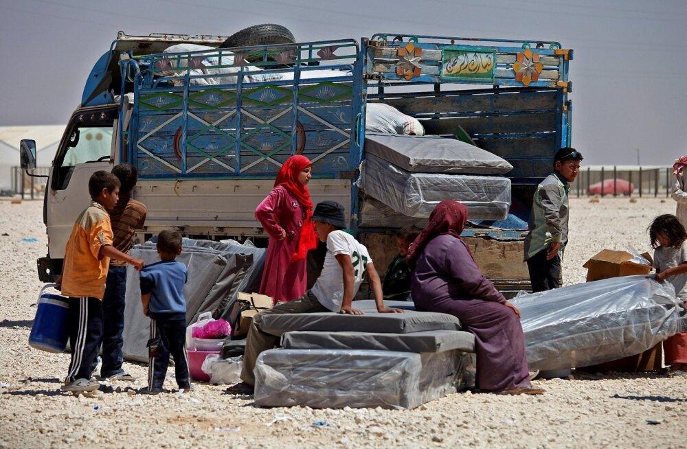 Süüria põgenikud on saabunud põgenikelaagrisse Jordaanias