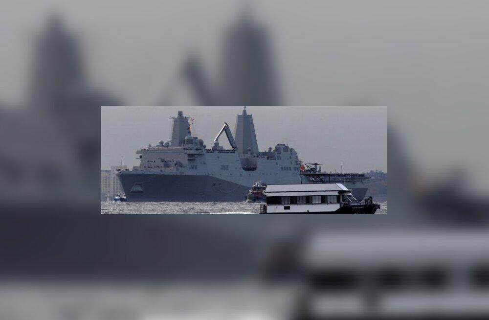 New Yorki tuli 9/11 rusudest ehitatud sõjalaev
