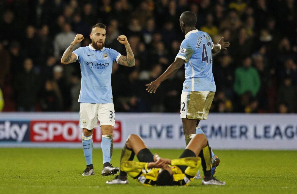 Manchester City päästis hiliste väravatega kolm punkti