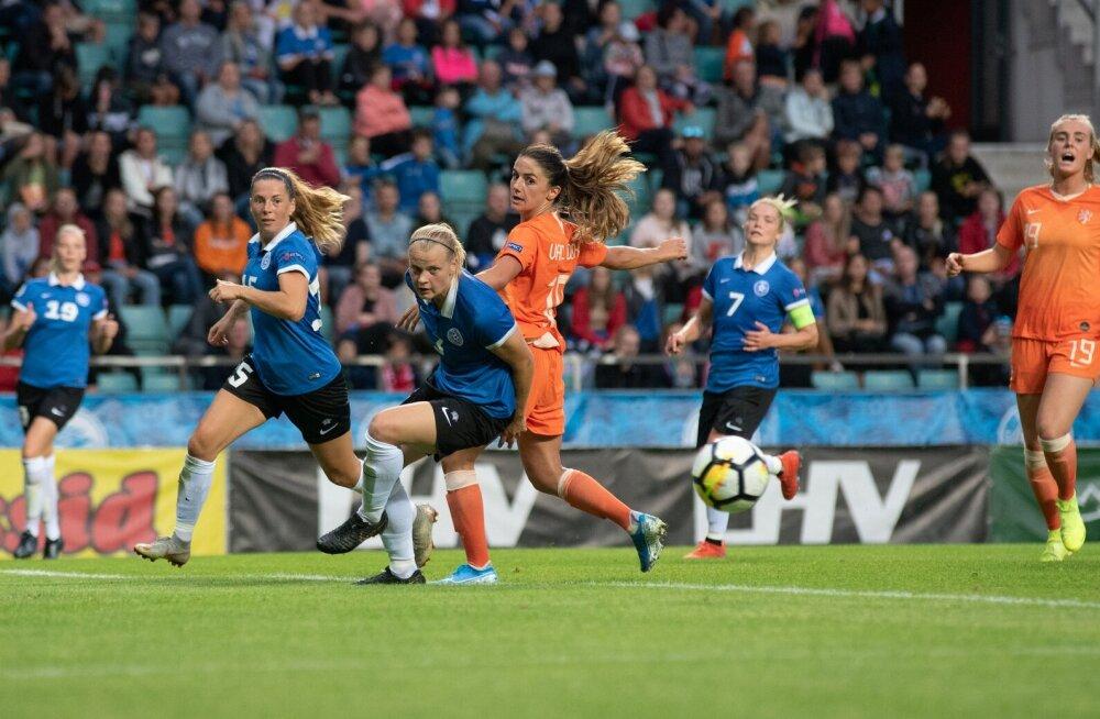 Naiste koondis EM-valikmängus Hollandi vastu