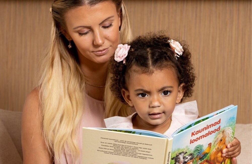 Grete Griffini 2-aastane tütar oskab nii inglise kui eesti keelt, abiks on kodumaised lasteraamatud