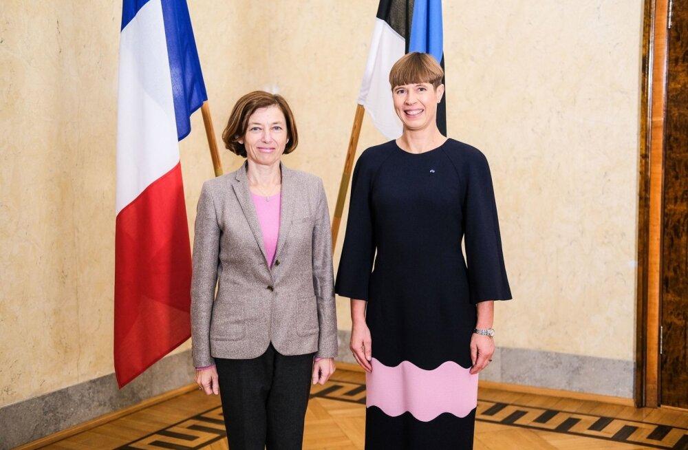 President Kersti Kaljulaid ja Prantsusmaa kaitseminister Florence Parly
