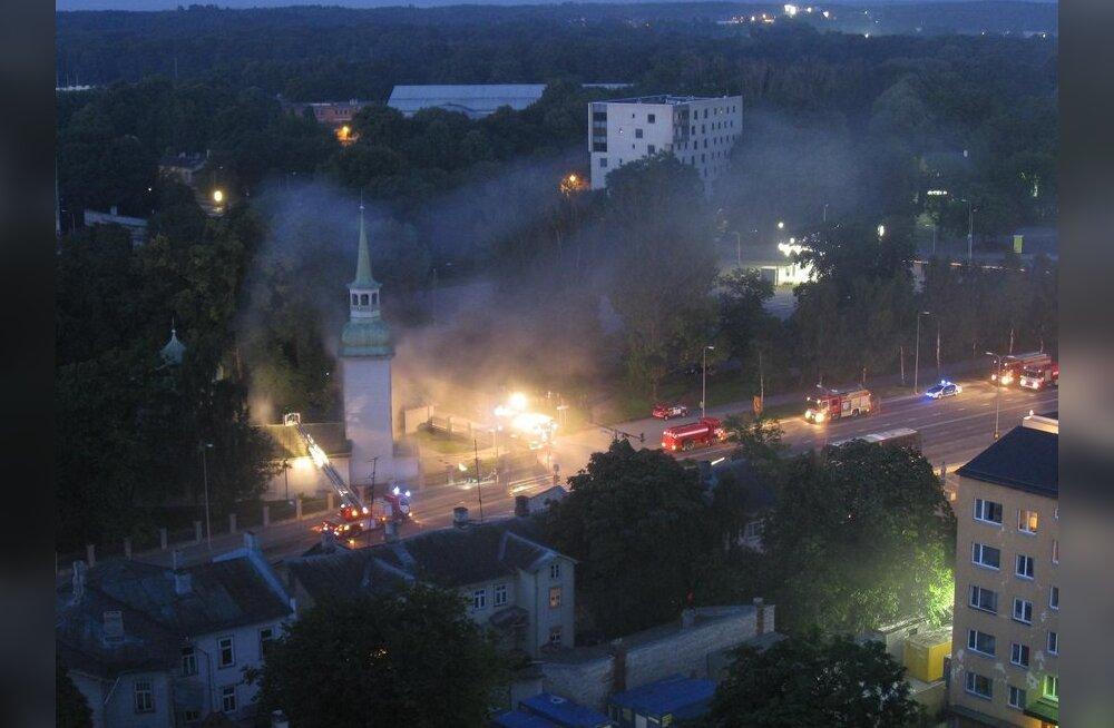 Tallinnas põles Kaasani kirik