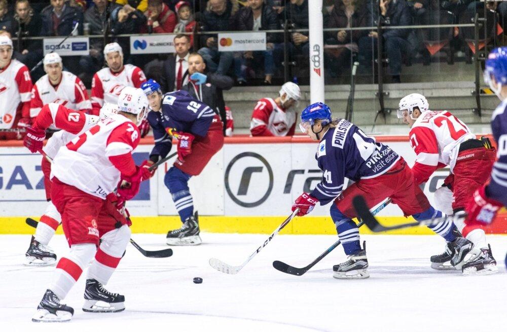 KHL-i hokiliiga mäng Tondiraba jäähallis: Helsingi Jokerit - Moskva Spartak