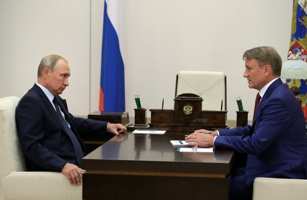 Venemaa president Vladimir Putin ja Sberbanki juht German Gref.