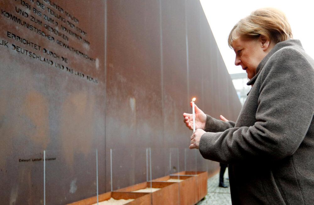 Merkel: oma roll Berliini müüri langemises oli ka Baltikumil