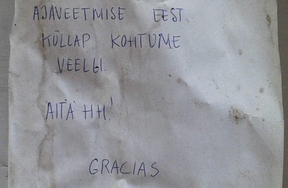 FOTO | Aita leida palverändur! Eestlane jättis Hispaanias rännates aiamajakesse armsa kirja