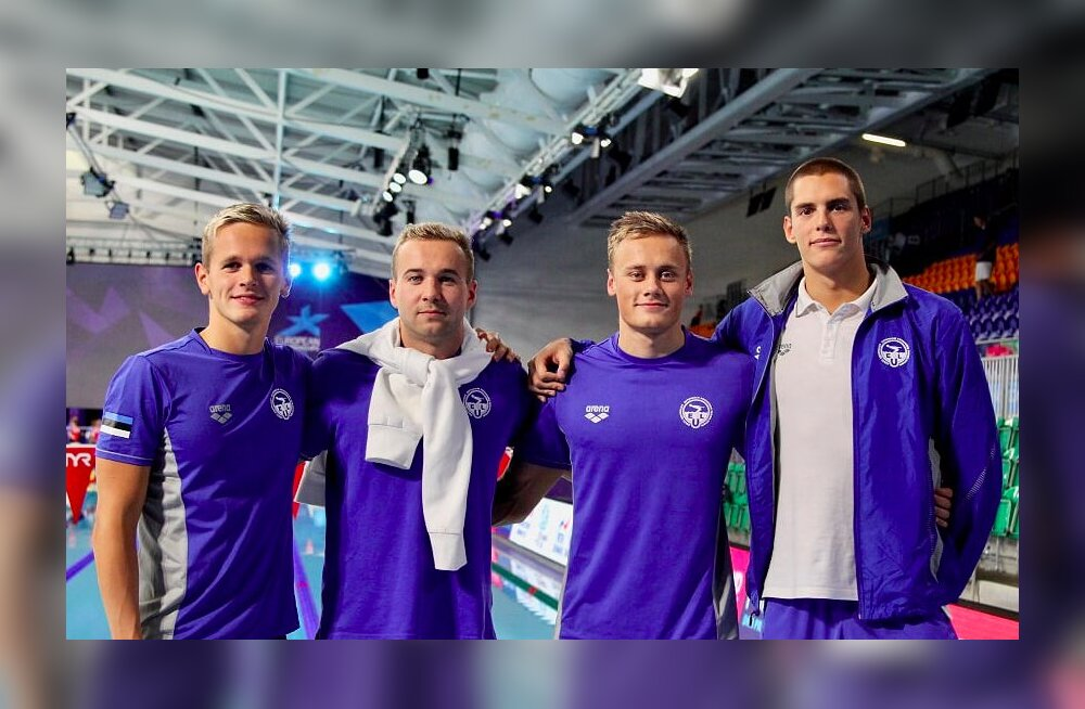 Eesti mehed püstitasid EM-i teateujumises Eesti rekordi