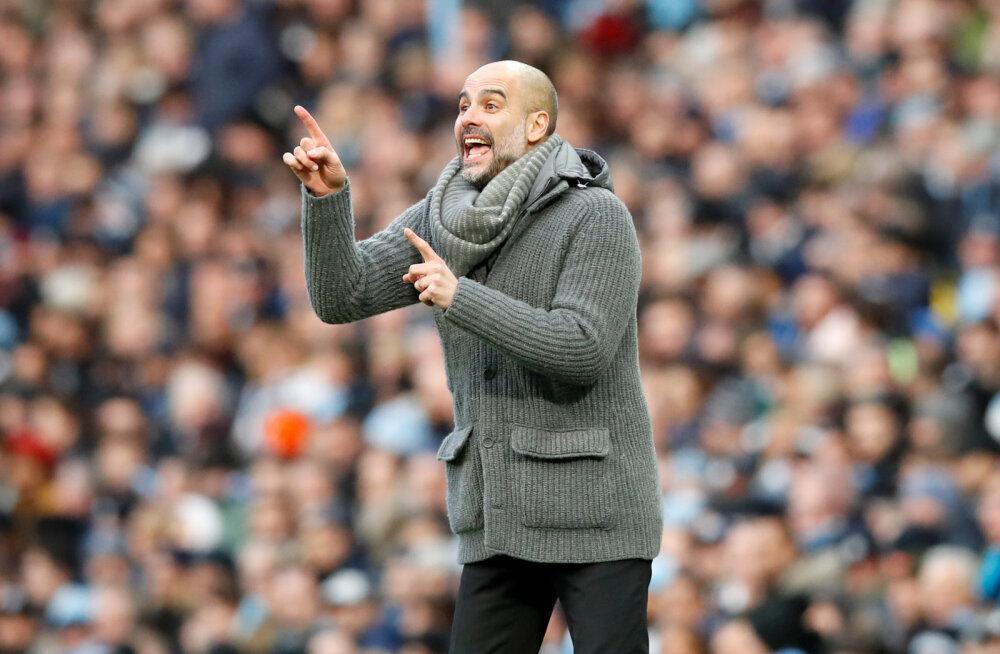 Manchester City peatreener Pep Guardiola