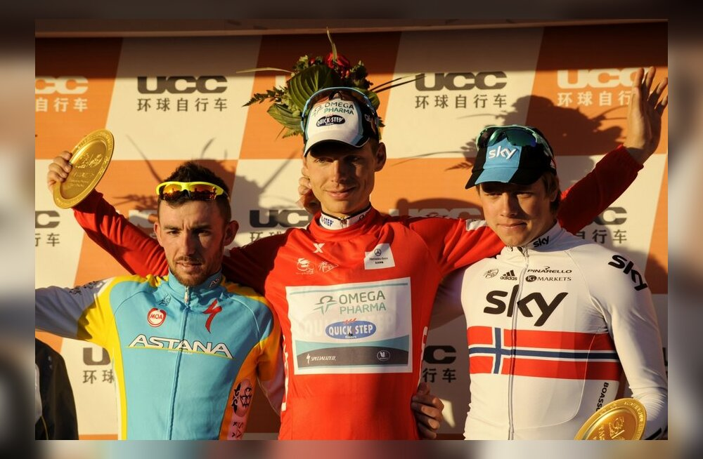 Pekingi velotuuri esikolmik (vasakult): Francesco Gavazzi, Tony Martin, Edvald Boasson Hagen