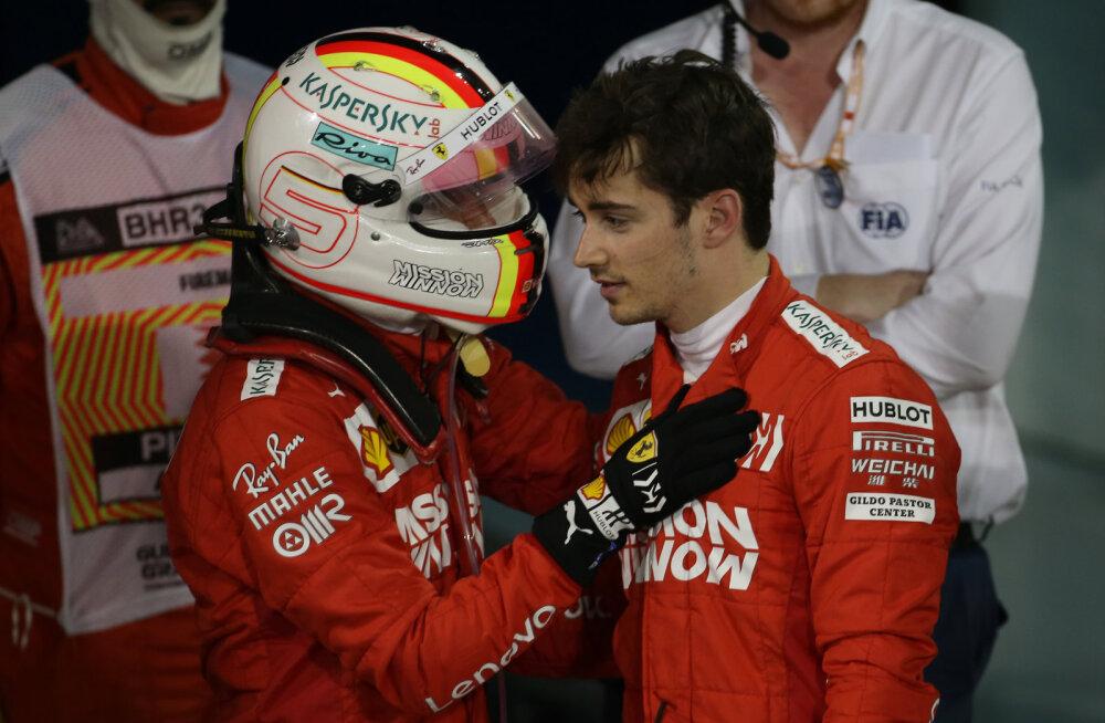 Sebastian Vettel ja Charles Leclerc