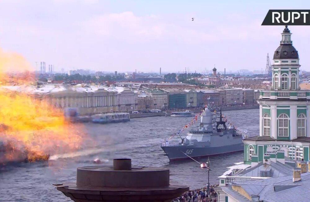 VIDEO   Vene merevägi tähistas Peterburis suure paraadiga 100. aastapäeva