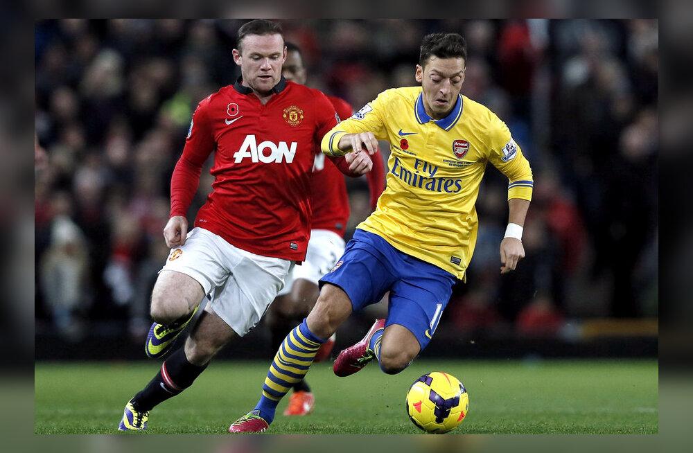 Rooney ja Özil, ManU vs Arsenal