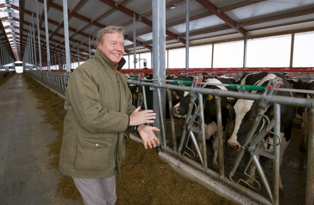 """""""Oleme Eesti ettevõte ja meie eesmärk on teha Eesti piimatootmisest just maailma mastaabis tootmine,"""" avab tulevikusuundi Joakim Helenius."""