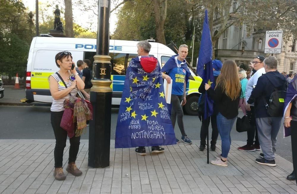 Brexiti vastased meeleavaldajad Londonis