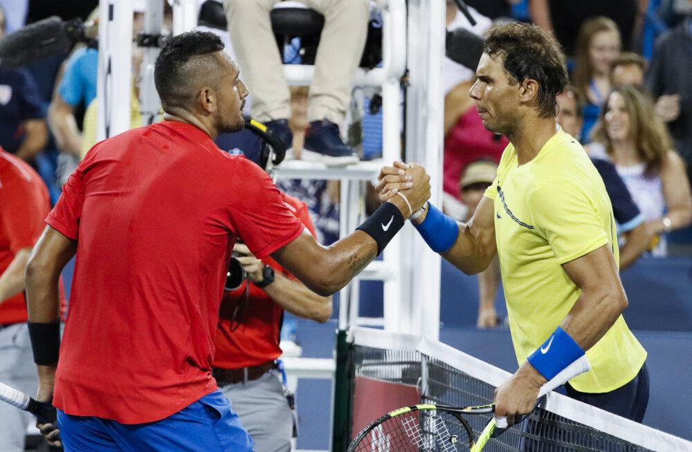 Nick Kyrgios ja Rafael Nadal