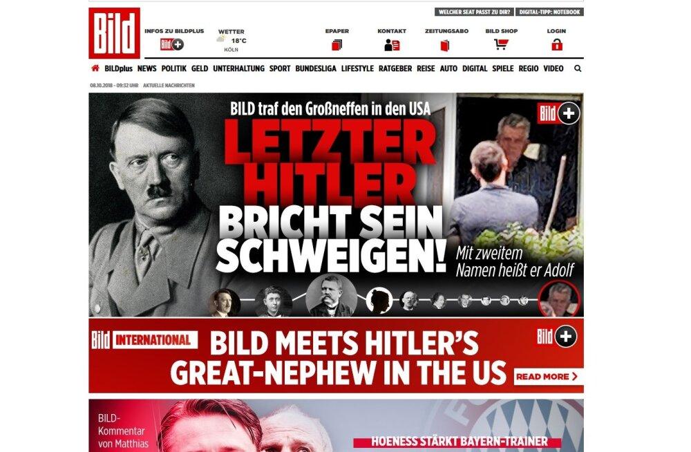 Saksa ajaleht Bild rääkis USA-s Hitleri sugulasega, kellele meeldib Merkel ja ei meeldi Trump
