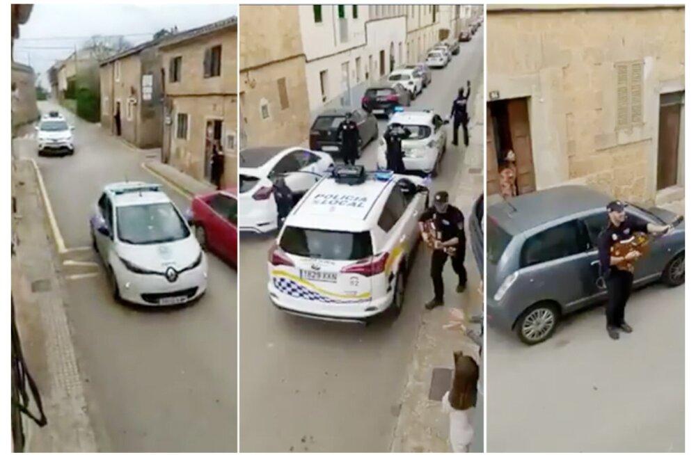 LÕBUS VIDEO | Mallorca politseinikud laulavad ja tantsivad tänavatel, et kodus karantiinis istujaid rõõmustada
