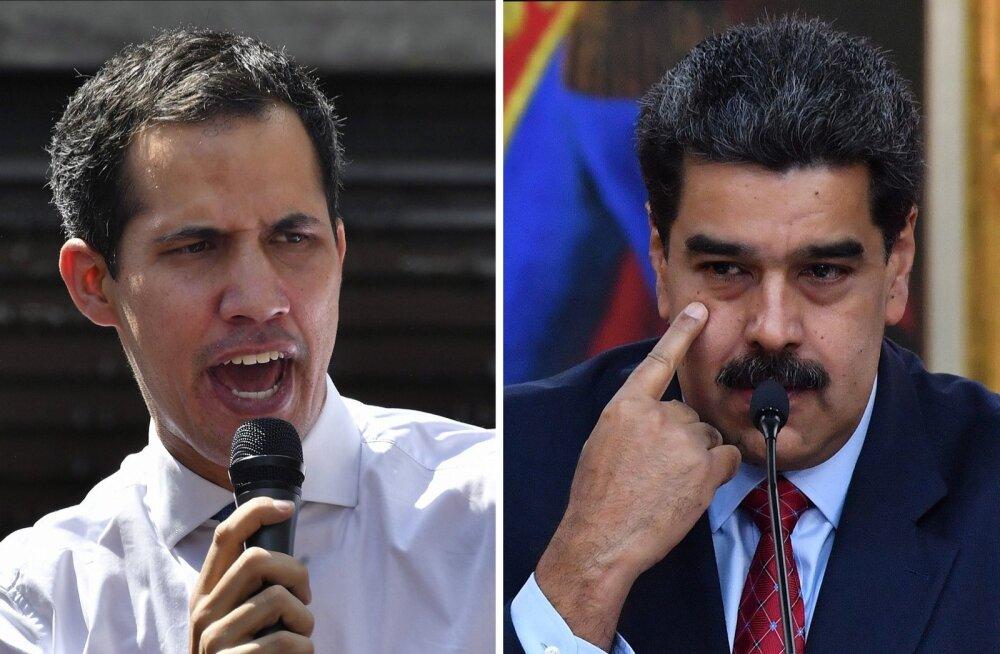 Üks riik, kaks riigipead. Juan Guaidó (vasakul) ja Nicolas Madero