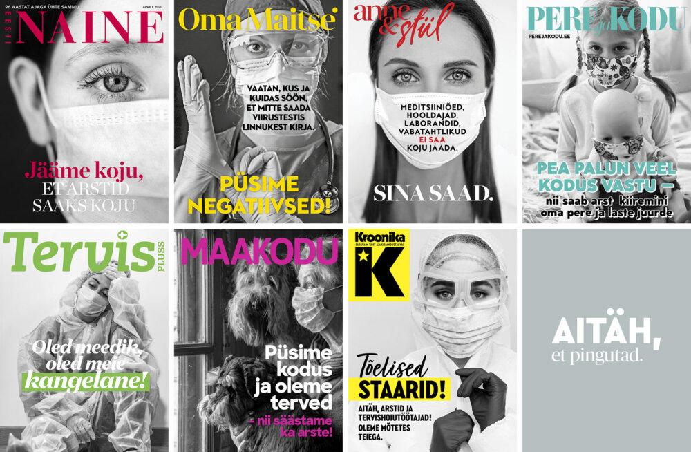 ФОТО | Эстонские журналы посвятили свои обложки медицинским работникам