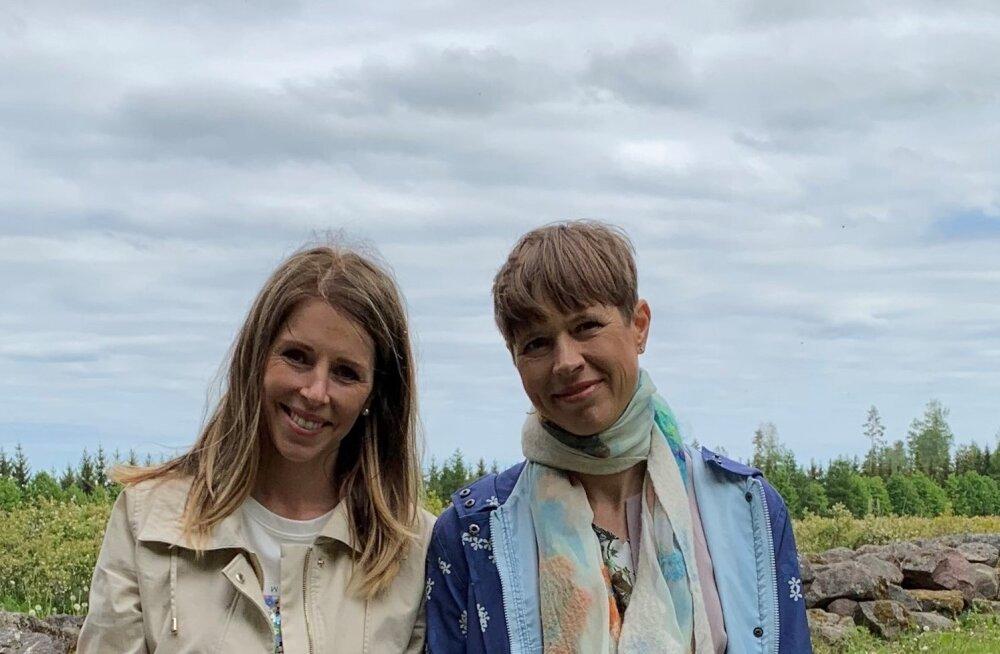 President Kersti Kaljulaid külas Marjamaa talus.