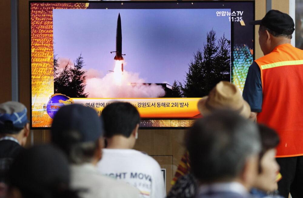 Põhja-Korea keeldus läbirääkimistest Lõuna-Koreaga ja lasi välja kaks raketti