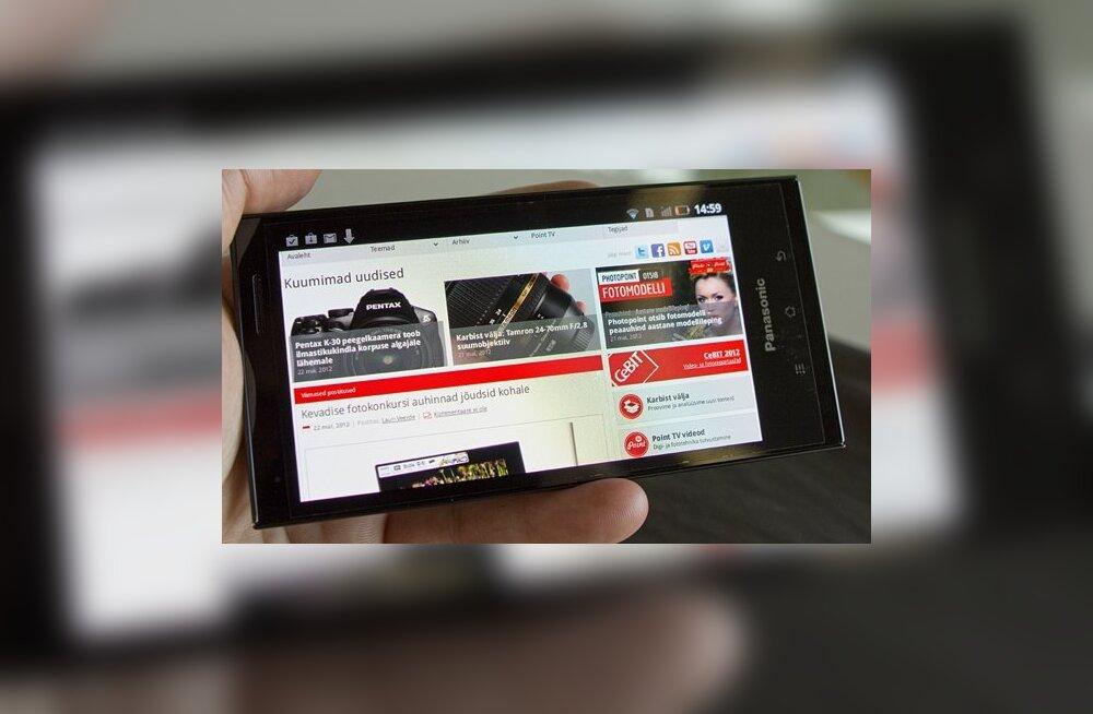 Karbist välja: Panasonicu veekindel Androidi nutitelefon Eluga