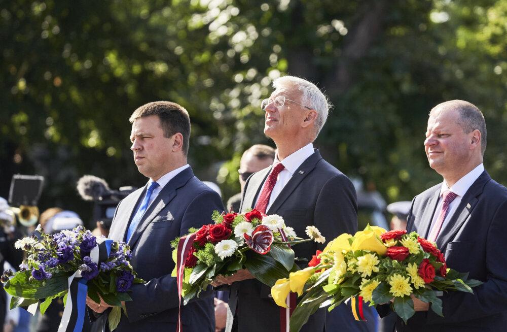 Ратас в Риге: история доказывает, что страны Балтии сильны, когда они вместе