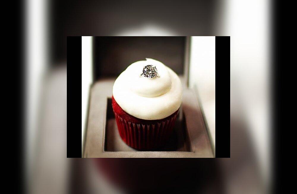 Briljantsõrmusega muffin teeb iga tüdruku tuju heaks