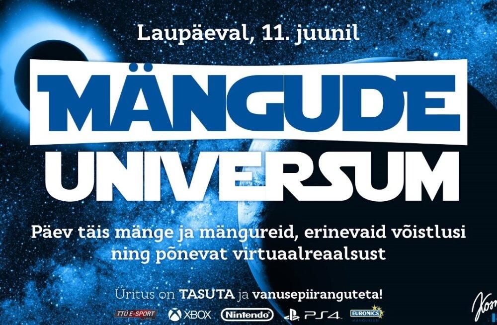 Mängude Universum: lahe tasuta üritus mängu- või filmisõbrale!