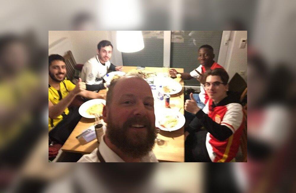 Jalgpall ühendab! Dortmundi fännid võtsid Monaco toetajad oma katuse alla