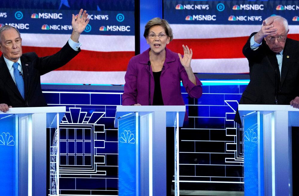 USA demokraatide valimisdebatil anti tuld uustulnuk Bloombergi ja sotsialist Sandersi pihta