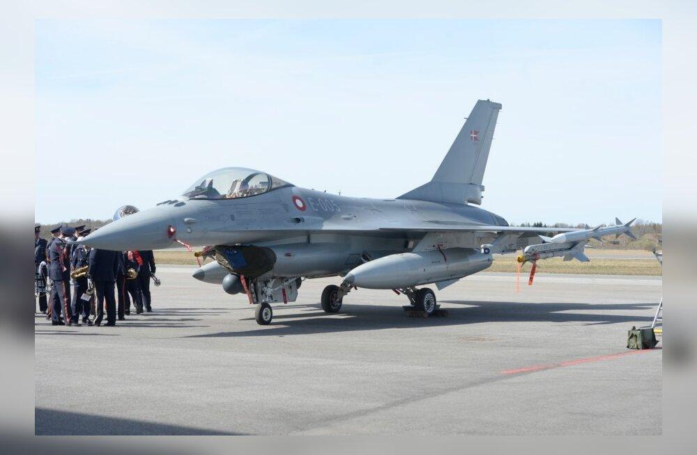 Taani hävitajad sooritasid esimese tuvastuslennu