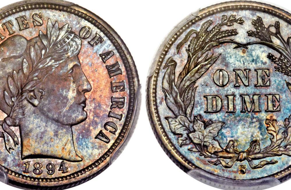 USAs müüdi haruldane 10-sendine münt pöörase summa eest
