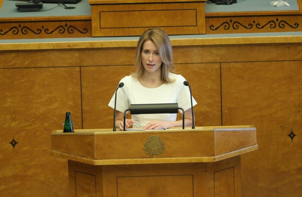 Kaja Kallas riigikogus: minust ei saa täna peaministrit, aga ma ei saa vaikida