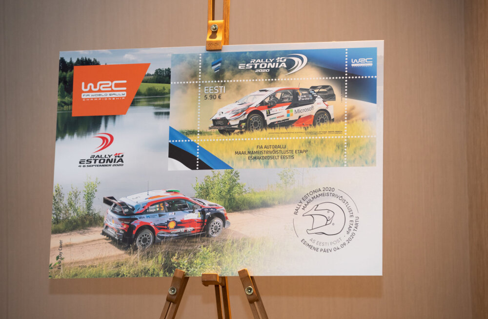 Eesti Post avaldas Rally Estonia margi, millel Tänak kihutab Toyotaga