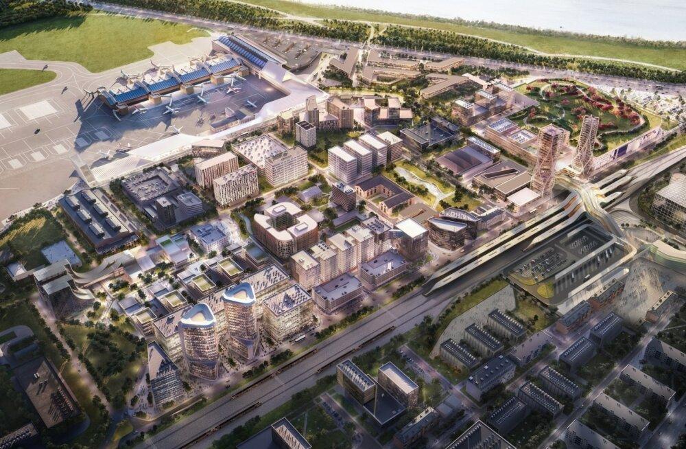 Zaha Hadidi arhitektide tulevikuvisioon Rail Balticu ühisterminalist ja Ülemiste tulevikust.