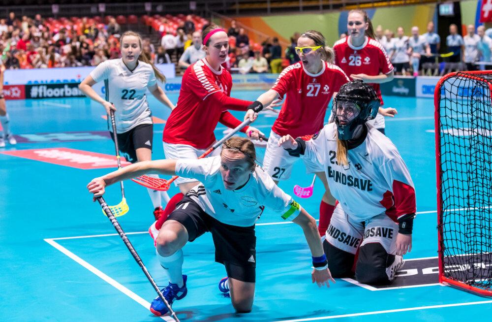 Eesti saalihokinaiskond kaotas MM-il Taanile ja võitleb edasi 13. koha nimel