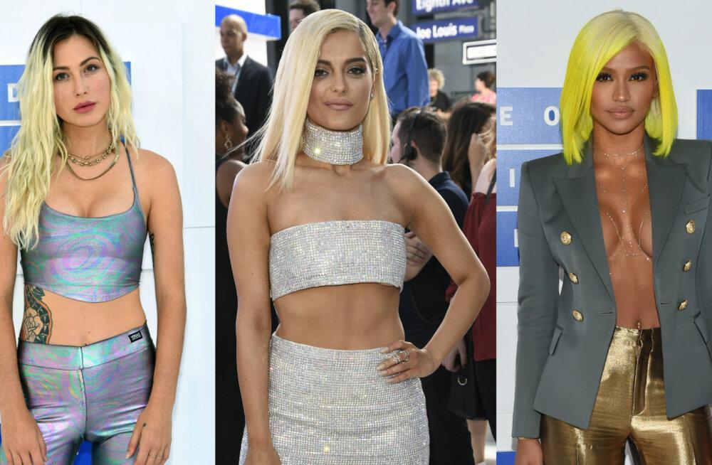 JUBE GALERII: Mis toimub? MTV videoauhindade staarid riietusid sel aastal eriti koledatesse hilpudesse