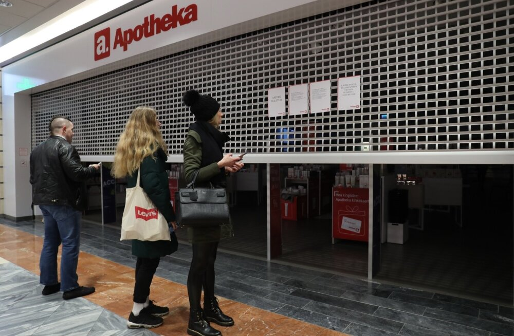 Kolmapäeval suleti pooleks päevaks ligi 300 apteeki üle Eesti.
