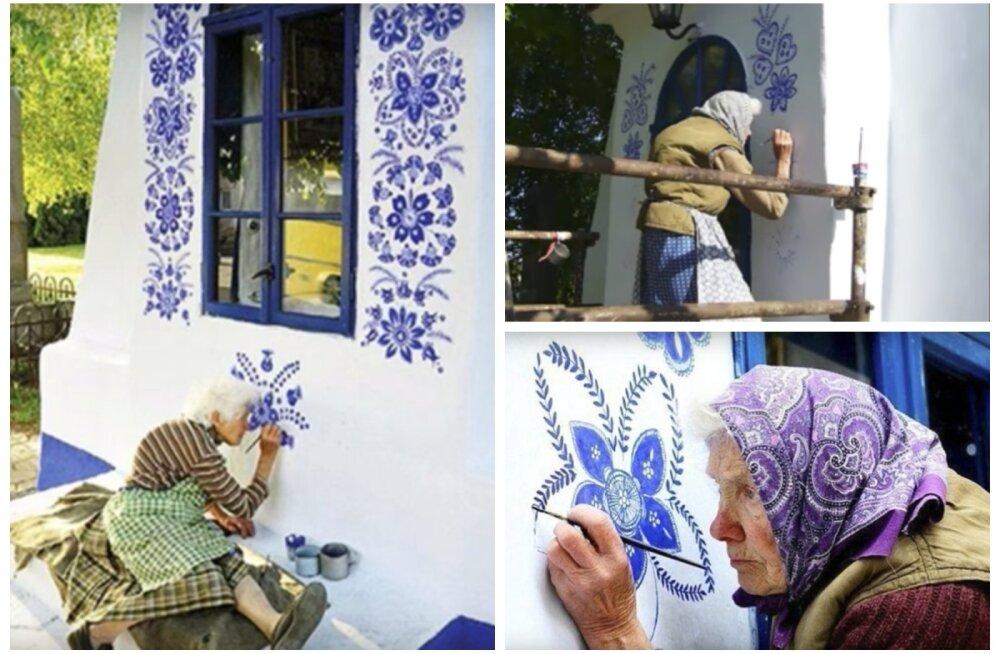 ФОТО | Музей под открытым небом: как чешская бабушка в одиночку расписала все дома в деревне