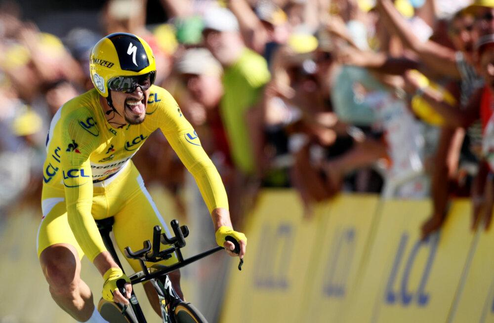 Tour de France'i liider tegi eraldistardi võiduga võimsa avalduse, Kangert ja Taaramäe tagasihoidlikud