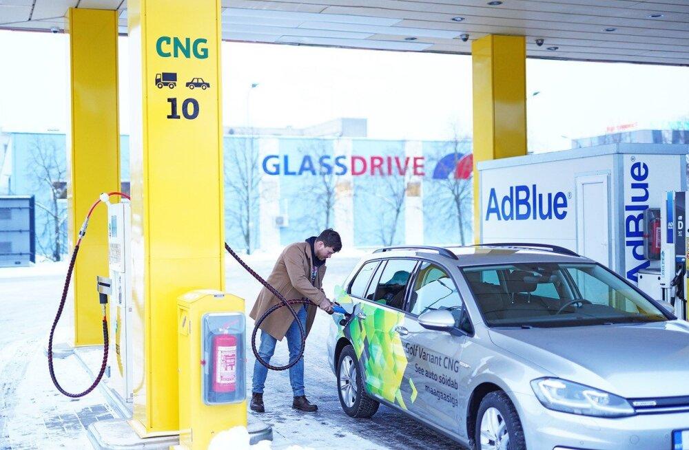 Olerex открыл свою первую CNG-заправку в Таллинне