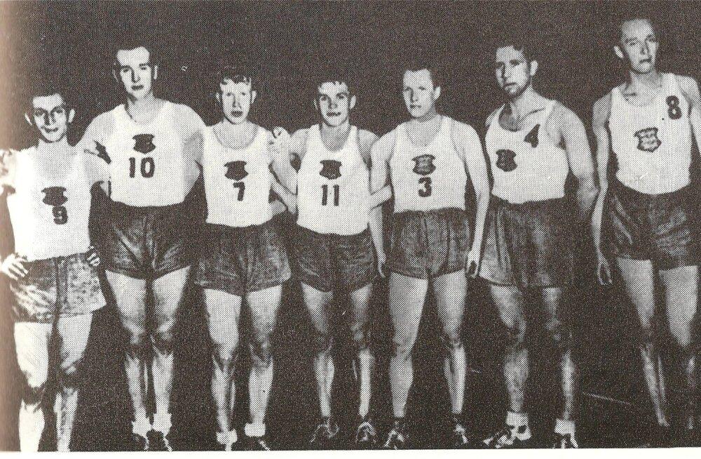 Eesti meeskond 1937. aastal Riias EMi turniiril.